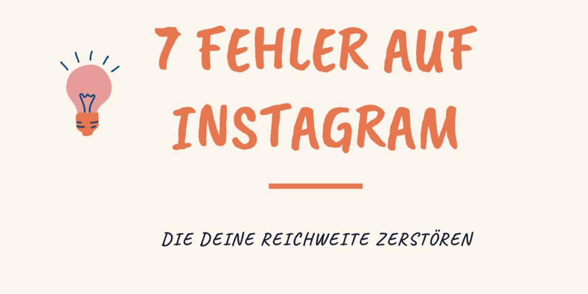 / Fehler auf Instagram