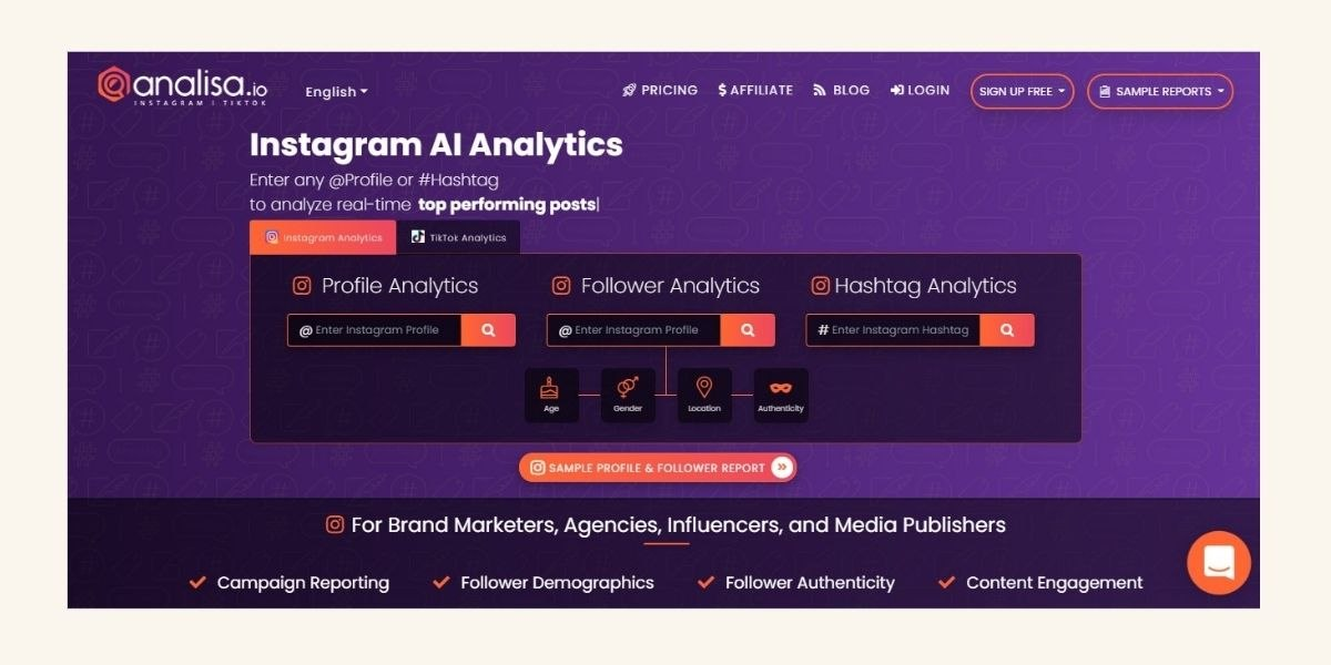 Hashtag Analyse Tool Analisa.io